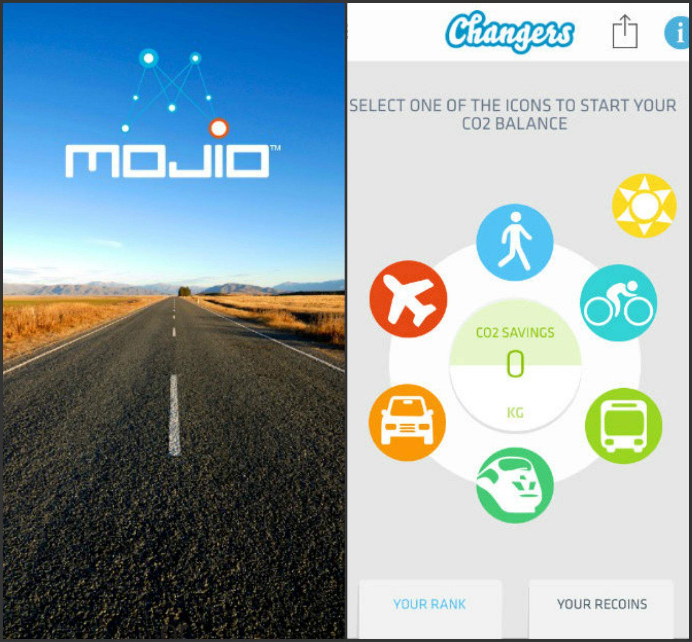 Changers CO2 Fit premia las conductas sostenibles y Mojio facilita información para adoptar medidas para reducir la huella de carbono de nuestro automóvil a través de un dispositivo que se acopla en el puerto de diagnóstico del coche.