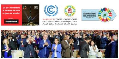 Hoy, 4 de noviembre de 2016, será un día que quedará marcado en los calendarios de las agendas internacionales como la fecha en que tuvo lugar un hito histórico: la entrada en vigor del Acuerdo de París. Y, a partir del lunes, arranca en Marrakech (Marruecos), la COP22 sobre Cambio Climático, la COP de la implementación del pacto universal.