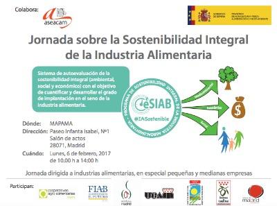 Durante el encuentro se presentará el Programa de Sostenibilidad Integral de la Industria Alimentaria del Mapama, y tendrá lugar una explicación práctica sobre el funcionamiento de e-SIAB, la única herramienta práctica que existe en España de uso libre para el cálculo de la sostenibilidad integral en todos los ámbitos, económico, social y medioambiental.