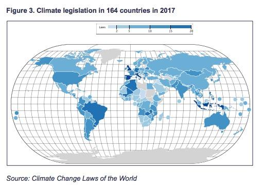 En este recurso de conocimiento en línea, diseñado para legisladores, diseñadores de políticas, académicos y profesionales del derecho, figuran los 50 mayores emisores de gases de efecto invernadero (GEI) del mundo y 93 de los 100 principales emisores. En conjunto, representan casi un 95 % de las emisiones mundiales de GEI.