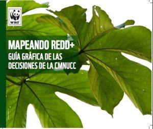 Mapeando REDD+: Guía gráfica de las decisiones de la CMNUCC es el título elegido para la edición en español (también está disponible en formato a dos páginas y en blanco y negro, así como en francés), y recoge los pasos que deben darse para la implementación efectiva de las iniciativas enmarcadas en el programa de las Naciones Unidas para la Reducción de las Emisiones por Deforestación y Degradación (REDD+).