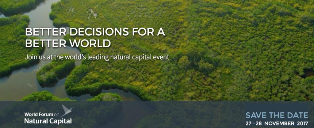 El World Forum on Natural Capital 2017 se celebrará este año del 27 al 28 de noviembre en el Centro Internacional de Conferencias de Edimburgo (Escocia, Reino Unido), con un programa repleto de sesiones plenarias animadas y atractivas, ponentes destacados e influyentes, sesiones paralelas dinámicas e interactivas y un sinfín de información relevante y útil en torno a los avances realizados en materia de capital naturalque fluirá por las redes sociales.