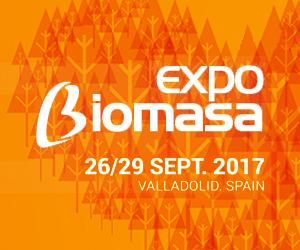 Expobiomasa 2017 tendrá lugar en el recinto ferial de Valladolid del 26 al 29 de septiembre.