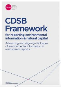 CDSB framework for environmental reporting & natural capital